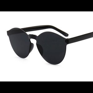 Frameless Black Sunglasses